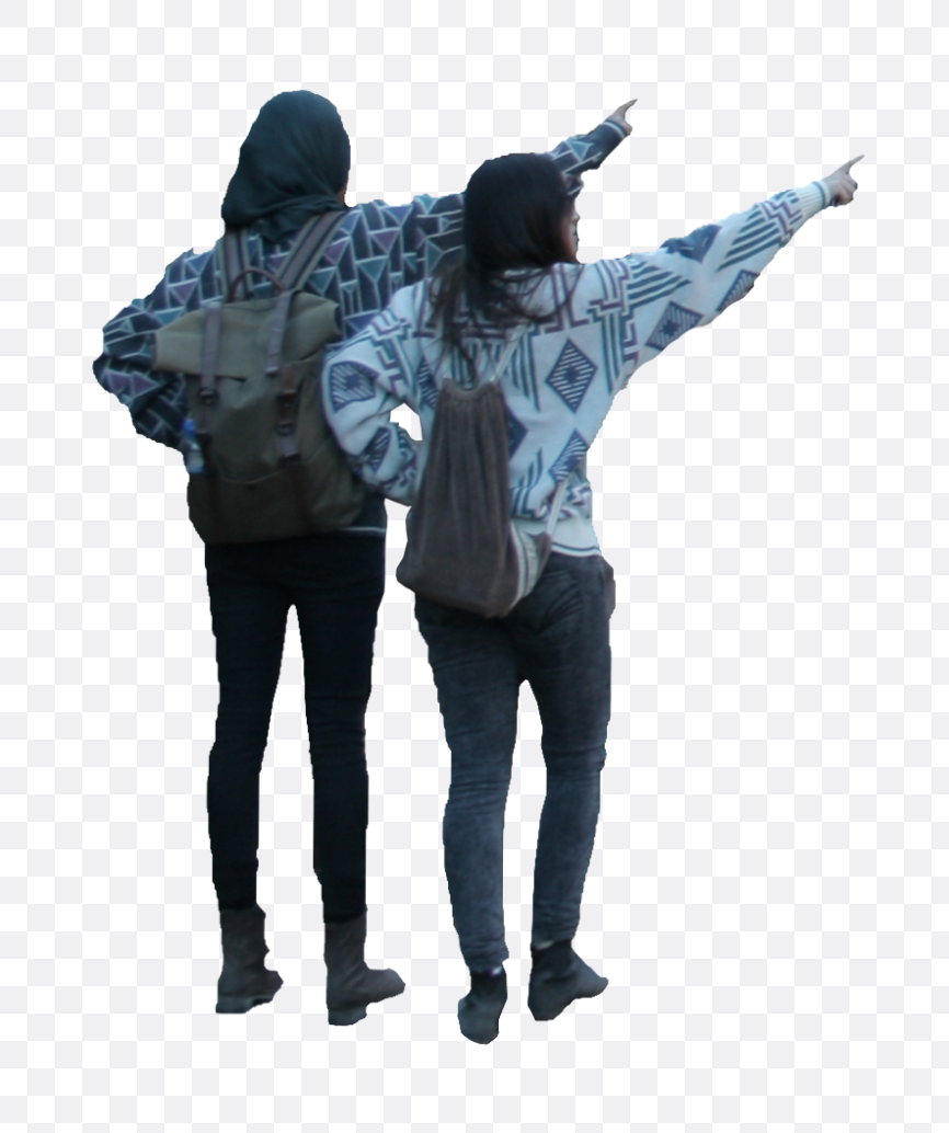 people pointing
