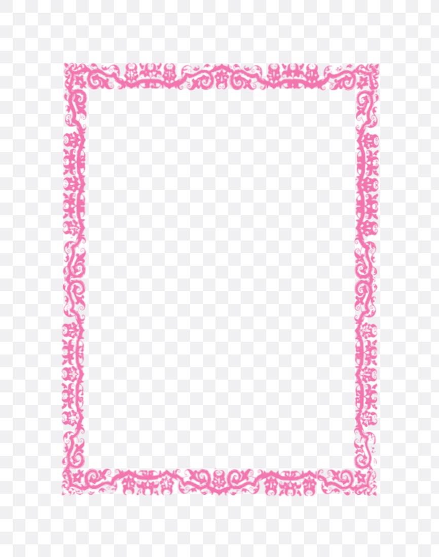pink border