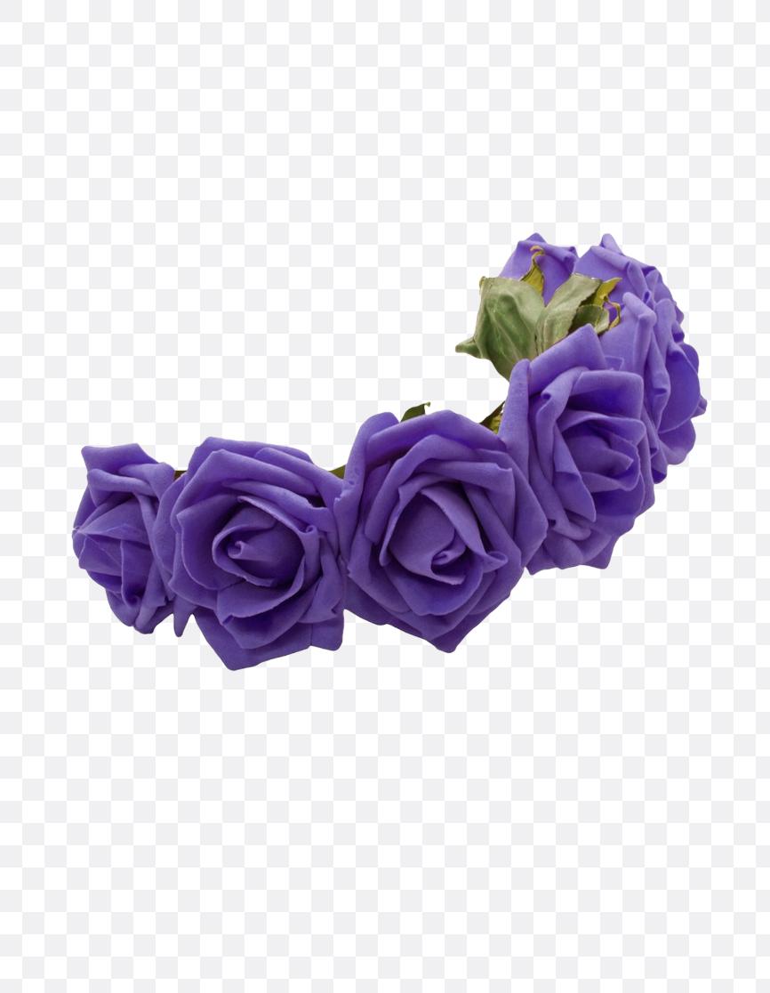 purple flower crown