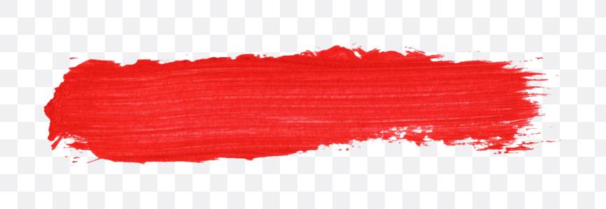 red brush stroke