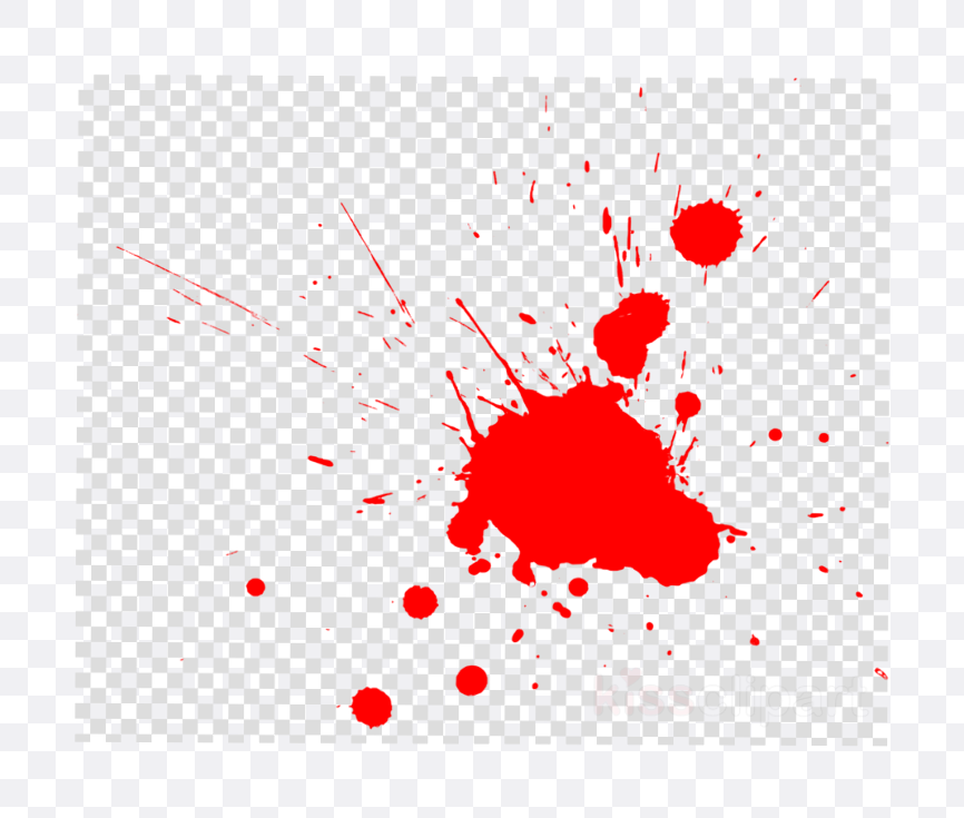 red paint splatter