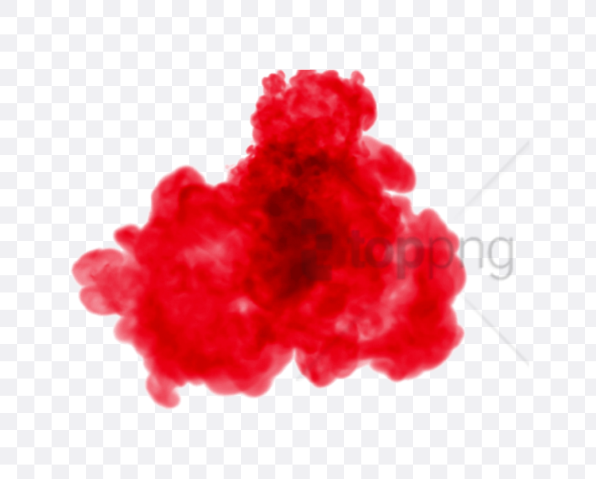 red smoke effect