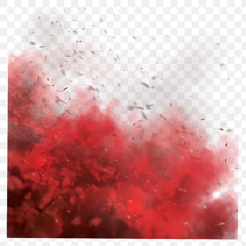 red smoke effect