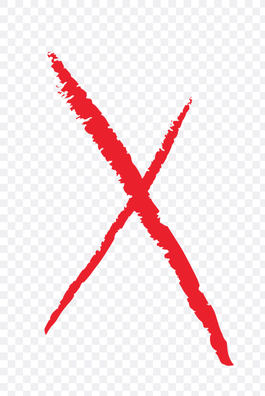 red x mark