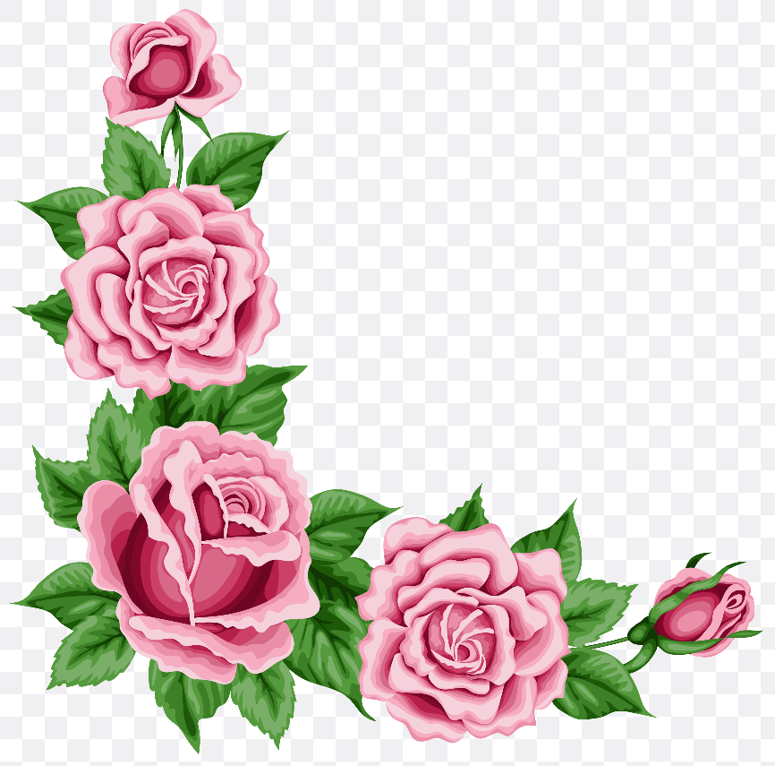 rose flower design border