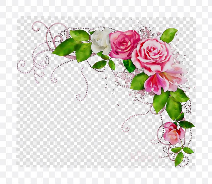 rose flower design border